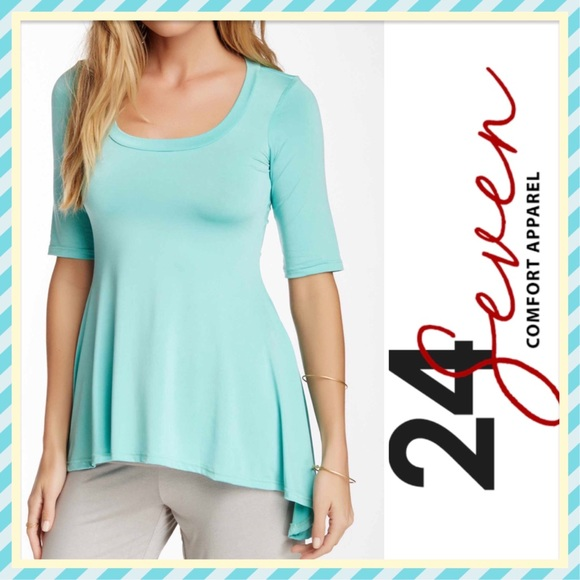 24/7 Comfort Apparel Tops - 🆕🌟 24/7 COMFORT APPAREL FLARED HI-LOW TUNIC TOP